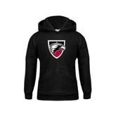 Youth Black Fleece Hoodie-Shield