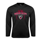 Performance Black Longsleeve Shirt-Design in Basketball