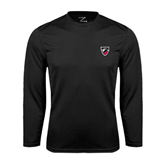 Syntrel Performance Black Longsleeve Shirt-Shield