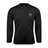 Performance Black Longsleeve Shirt-Shield
