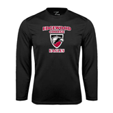 Syntrel Performance Black Longsleeve Shirt-Edgewood College Eagles