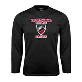 Performance Black Longsleeve Shirt-Edgewood College Eagles