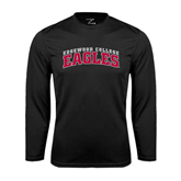 Syntrel Performance Black Longsleeve Shirt-Arched Edgewood College Eagles