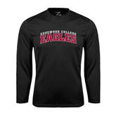 Performance Black Longsleeve Shirt-Arched Edgewood College Eagles