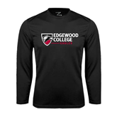 Syntrel Performance Black Longsleeve Shirt-Edgewood College