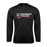 Performance Black Longsleeve Shirt-Edgewood College