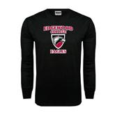 Black Long Sleeve TShirt-Edgewood College Eagles