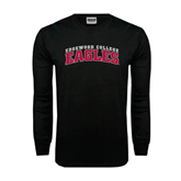 Black Long Sleeve TShirt-Arched Edgewood College Eagles