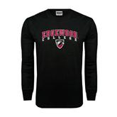Black Long Sleeve TShirt-Arched Edgewood College w/Shield