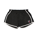 Ladies Black/White Team Short-Shield