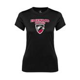 Ladies Syntrel Performance Black Tee-Official Logo