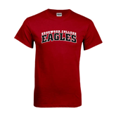 Cardinal T Shirt-Arched Edgewood College Eagles