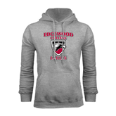 Grey Fleece Hoodie-Edgewood College Eagles