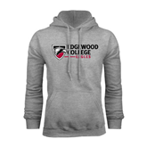 Grey Fleece Hoodie-Edgewood College
