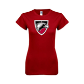Next Level Ladies SoftStyle Junior Fitted Cardinal Tee-Shield
