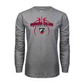 Grey Long Sleeve T Shirt-Design in Basketball