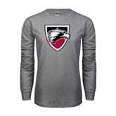 Grey Long Sleeve T Shirt-Shield