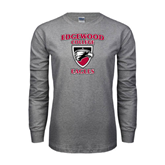 Grey Long Sleeve T Shirt-Edgewood College Eagles