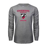 Grey Long Sleeve T Shirt-Soccer