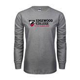 Grey Long Sleeve T Shirt-Edgewood College