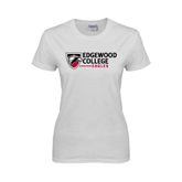Ladies White T Shirt-Edgewood College