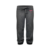 ENZA Ladies Dark Heather Banded Fleece Capri-Official Logo