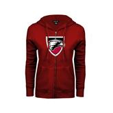 ENZA Ladies Cardinal Fleece Full Zip Hoodie-Shield
