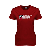 Ladies Cardinal T Shirt-Edgewood College