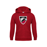 Youth Cardinal Fleece Hoodie-Shield