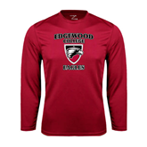 Performance Cardinal Longsleeve Shirt-Edgewood College Eagles
