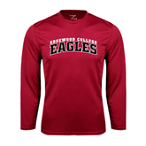 Performance Cardinal Longsleeve Shirt-Arched Edgewood College Eagles