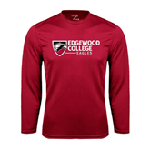 Syntrel Performance Cardinal Longsleeve Shirt-Edgewood College