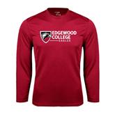 Performance Cardinal Longsleeve Shirt-Edgewood College