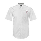 White Twill Button Down Short Sleeve-Shield