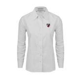 Ladies White Oxford Shirt-Shield