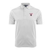 White Dry Mesh Polo-Official Logo