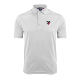 White Dry Mesh Polo-Shield