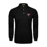 Black Long Sleeve Polo-Official Logo