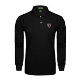 Black Long Sleeve Polo-Shield