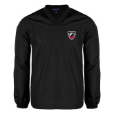 V Neck Black Raglan Windshirt-Shield