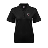 Ladies Easycare Black Pique Polo-Shield