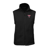 Fleece Full Zip Black Vest-Official Logo