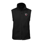 Fleece Full Zip Black Vest-Shield