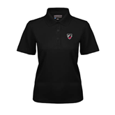 Ladies Black Dry Mesh Polo-Shield
