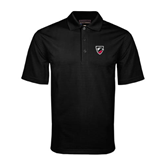 Black Mini Stripe Polo-Shield