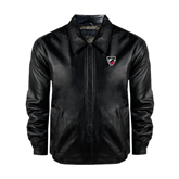Black Leather Bomber Jacket-Shield