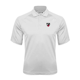 White Textured Saddle Shoulder Polo-Shield