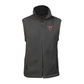Fleece Full Zip Charcoal Vest-Official Logo