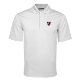 White Mini Stripe Polo-Shield