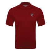 Cardinal Textured Saddle Shoulder Polo-Official Logo